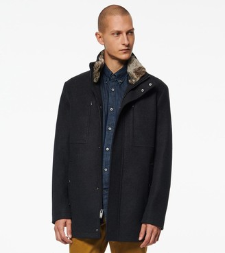 Andrew Marc Westerhall Four Pocket Wool Car Coat