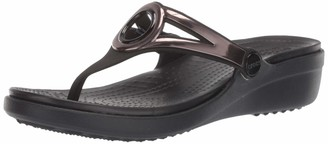Crocs Women's Sanrah Metallic Strap Wedge Sandal