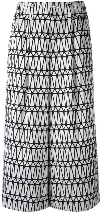 Issey Miyake printed wide leg culottes