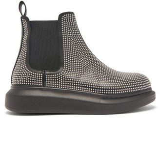 Alexander McQueen Studded Leather Chelsea Boots - Womens - Black