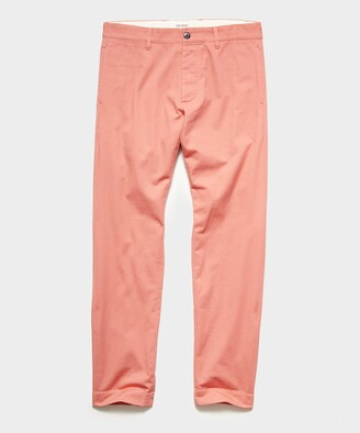 Todd Snyder Japanese Selvedge Chino in Salmon