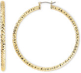 MONET JEWELRY Monet Gold-Tone Large Diamond-Cut Hoop Earrings