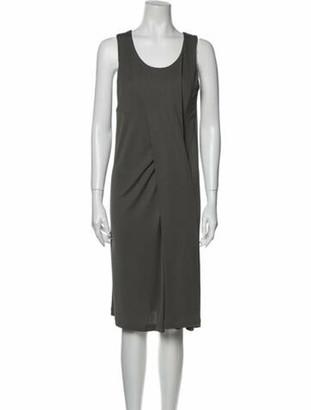 Balenciaga Scoop Neck Knee-Length Dress w/ Tags Grey
