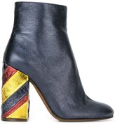 L'Autre Chose metallic striped heel ankle boots