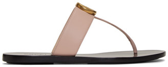 Gucci Pink GG Marmont Sandals