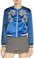 Maje Bichon Embroidered Bomber Jacket