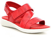 Ecco Soft 5 Cross-Strap Leather Sandals