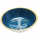 Coastal Lace Melamine Salad Bowl in Navy