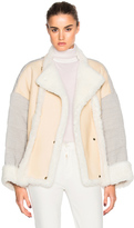 Chloé Curly Shearling Mix Jacket