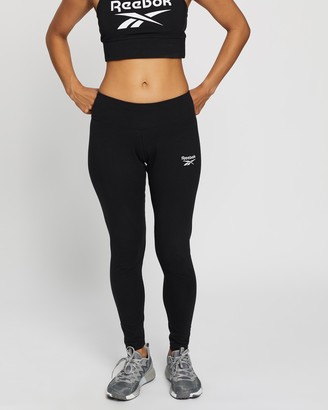 Reebok Performance - Women's Black Tights - Ribbed Cotton Leggings - Size XS at The Iconic