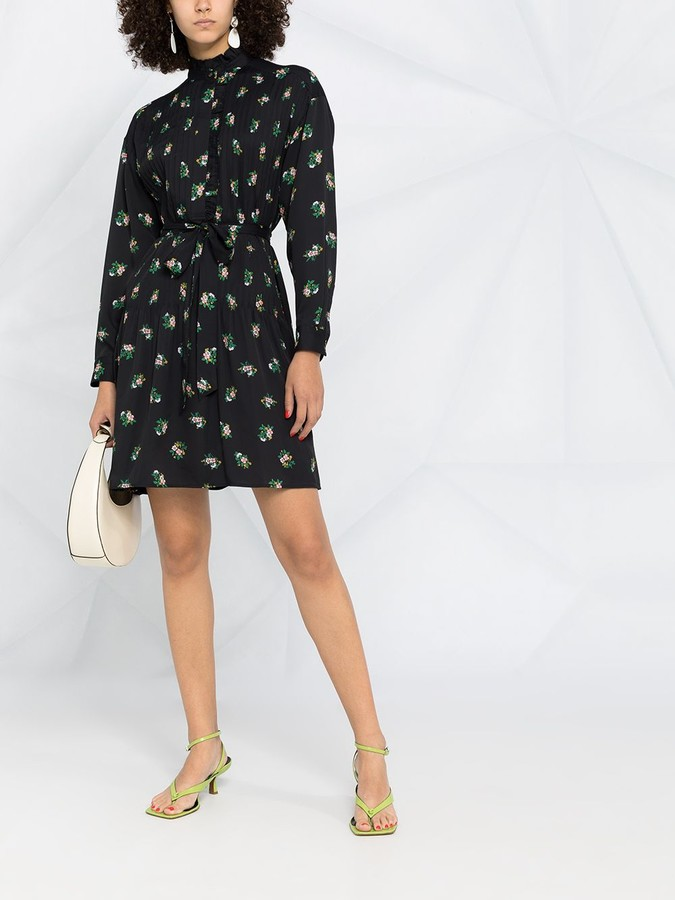 Thumbnail for your product : Tory Burch Belted Floral Shift Dress