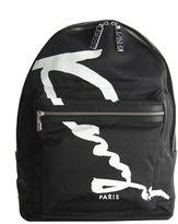 Kenzo Black Script Paris Backpack