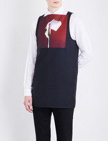 Raf Simons Lilly-print wool vest top