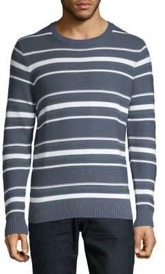 Black & Brown Black Brown Multi-Striped Crewneck Sweater