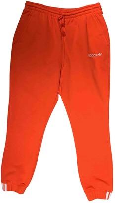 adidas Orange Cotton Trousers