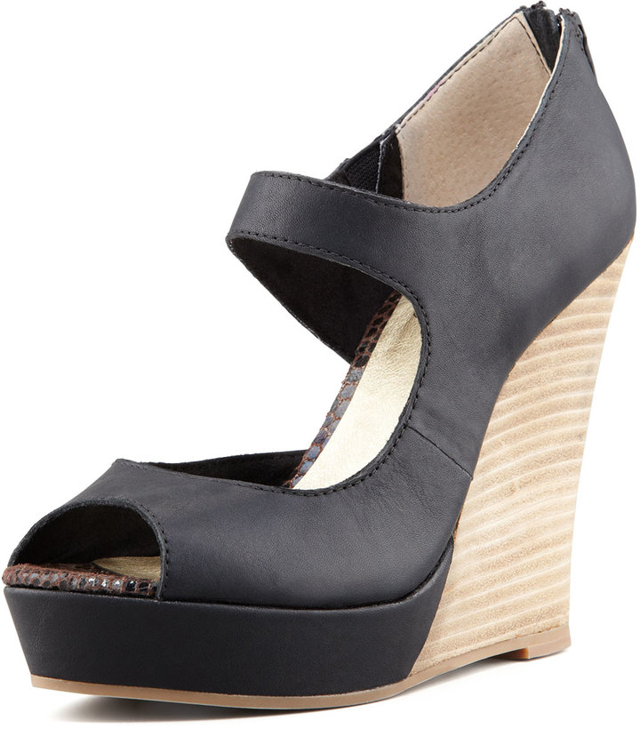 Seychelles Down to the Wire Wedge Sandal, Black