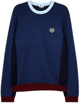 Kenzo Blue Tiger-embroidered Wool Blend Jumper