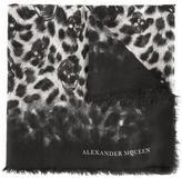 Alexander McQueen Eaten Way Leopard Skull scarf