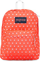 JanSport Superbreak Backpack in Tahitian Orange with White Dots