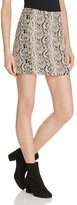 Free People Mod Femme Snake Jacquard Mini Skirt