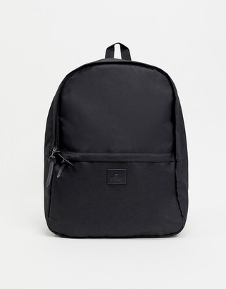 Asos DESIGN backpack in black with branded patch