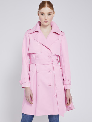 Alice + Olivia Monique Pleated Back Trench Coat