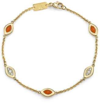 Andy Lif 18kt gold diamond Cats Eye bracelet