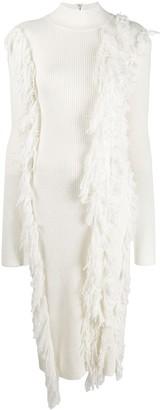 David Koma fringed sweater dress