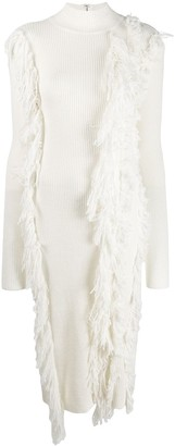 David Koma Fringed Sweater Dress