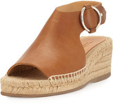 Rag & Bone Calla Leather Wedge Espadrille Sandal, Light Brown