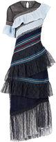 Peter Pilotto Navy Lace Single-Shoulder Dress