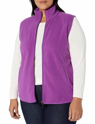 Amazon Essentials Women's Plus Size Full-Zip Polar Fleece Vest