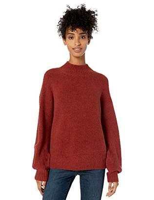 Goodthreads Boucle Half-cardigan Stitch Balloon-sleeve SweaterXL