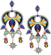Roberto Cavalli multiple stones earrings