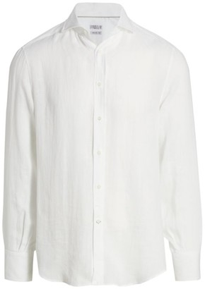Brunello Cucinelli Long-Sleeve Linen Shirt