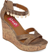 POP Wizard Womens Wedge Sandals