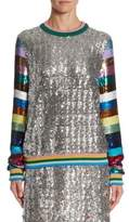 Mary Katrantzou Magpie Sequin Sweatshirt