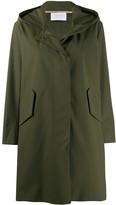 Harris Wharf London hooded zip-up coat