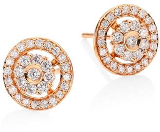 Hueb Flower Diamond & 18K Rose Gold Stud Earrings