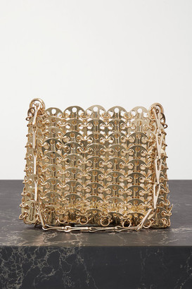 Paco Rabanne Nano 1969 Chainmail Shoulder Bag - Gold