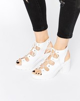 Asos TEMPT Lace Up Heeled Sandals