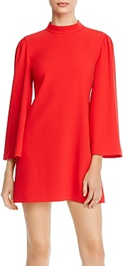 Alice + Olivia Bailey Bell-Sleeve Mini Dress
