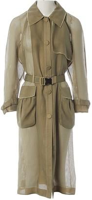 Fendi Khaki Trench Coat for Women