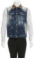 DSQUARED2 Distressed Denim Vest w/ Tags