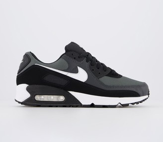 Nike 90 Trainers Black White Leather
