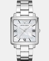 Emporio Armani Modern Square Silver-Tone Analogue Watch