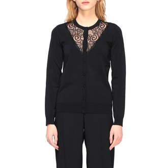 Emporio Armani Sweater Cardigan With Lace Trim