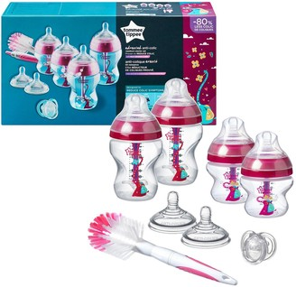 Tommee Tippee Advanced Anti Colic Decorated Bottle Starter Set Pink