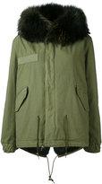 Mr & Mrs Italy - army mini parka - women - Cotton/Leather/Rabbit Fur/Racoon Fur - XXS