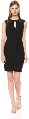 GUESS Women's Bandage Cocktail Dress with Shoulder Detail